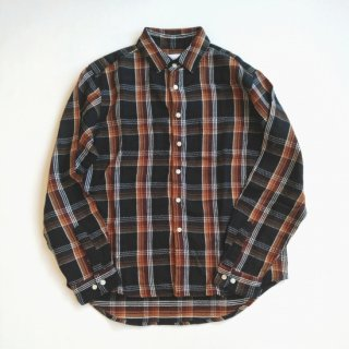 <img class='new_mark_img1' src='https://img.shop-pro.jp/img/new/icons8.gif' style='border:none;display:inline;margin:0px;padding:0px;width:auto;' />Manual Alphabet<br>TWILL CHECK LOOSE FIT REGULAR COLLAR SHIRT