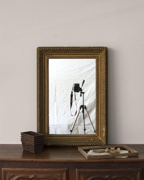 ゴールドフレーム ウォールミラー  Wall Mirror