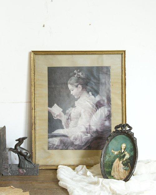 """アートフレーム """"フラゴナール""""(読書をする娘)  Art Frame """"Fragonard"""""""
