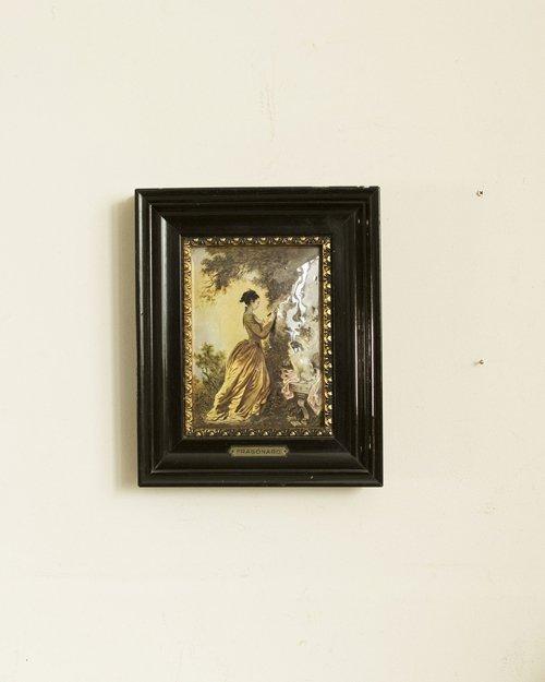 """エナメル画 """"フラゴナール""""(The Souvenir)  Enamel Art """"Fragonard"""""""