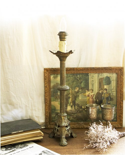 真鍮製 テーブルランプ  Brass Table Lamp
