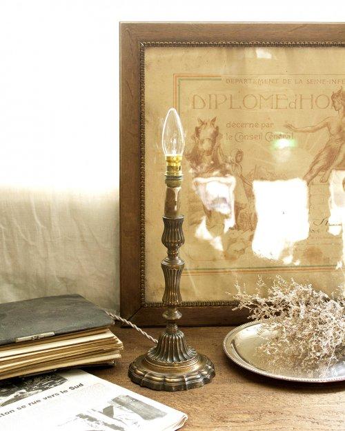 青銅製 テーブルランプ  Bronze Table Lamp