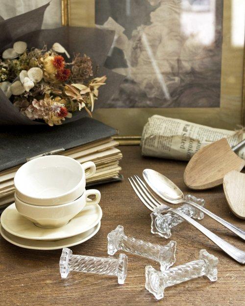 ガラス カトラリーレスト.a  Glass Cutlery Rest