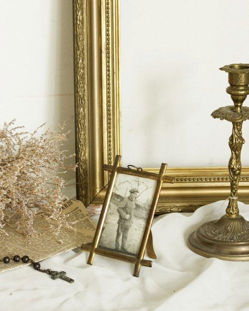 真鍮製 フォトフレーム  Brass Photo Frame