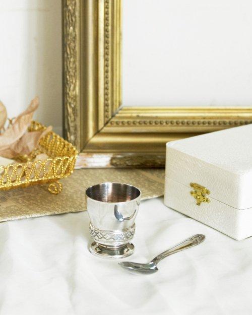 エッグスタンド&スプーン   Silver Egg Stand & Spoon