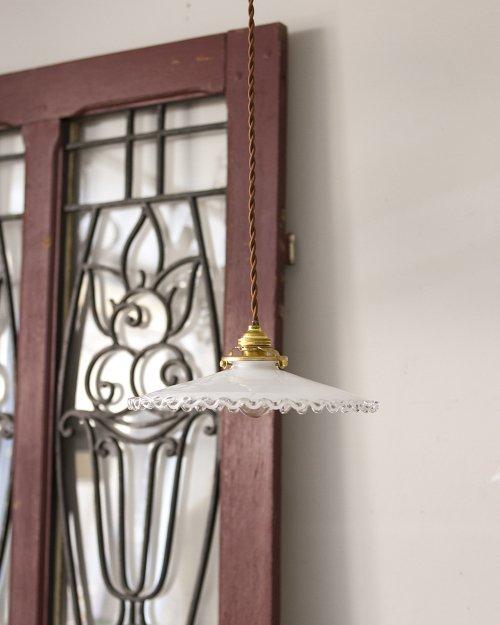 フリルガラスシェードランプ  Glass Shade Lamp