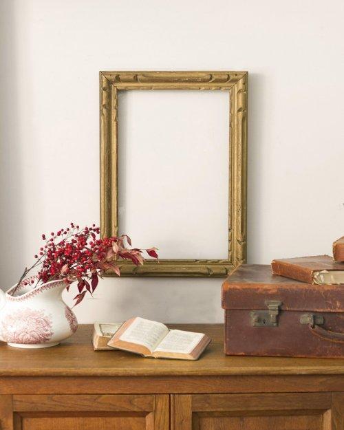 ゴールドペイント ウッドフレーム  Wood Frame