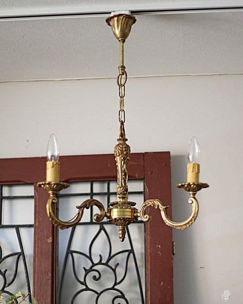 ブロンズ 3灯シャンデリア.b  Bronze Chandelier