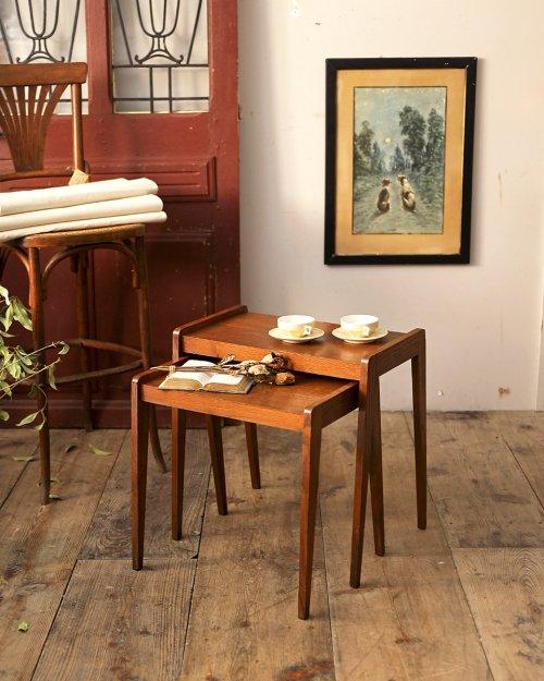 ネストテーブル  Wood Nest Table