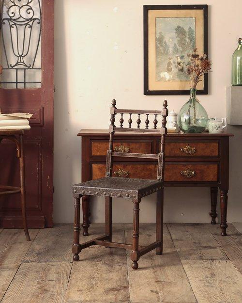 レザーチェア   Henri II Leather Chair.1