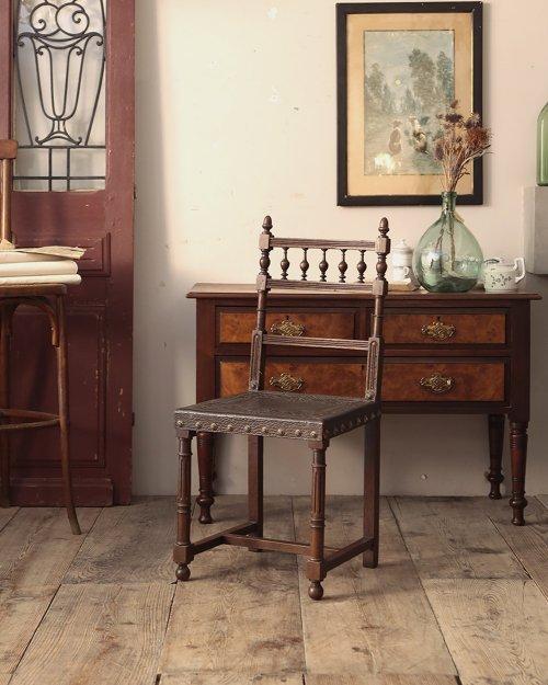 レザーチェア   Henri II Leather Chair.4