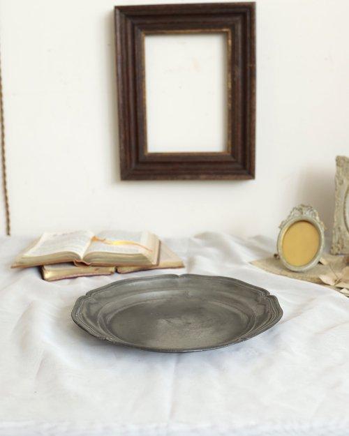 花リム ピュータープレート.b  Etain Plate.2