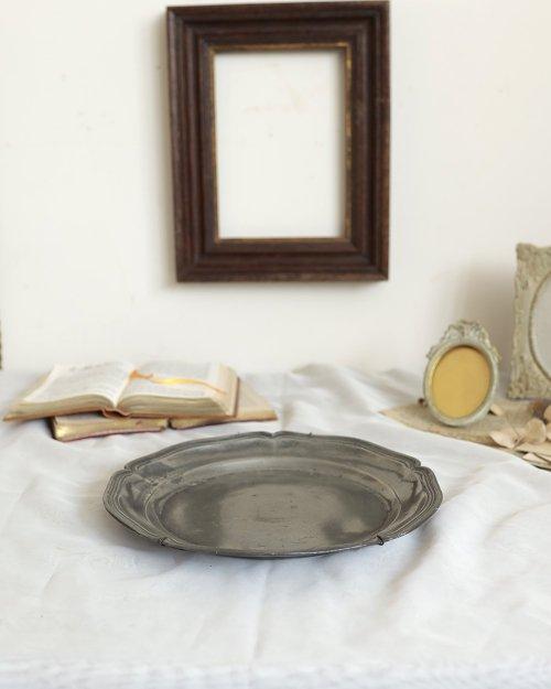 花リム ピュータープレート.c  Etain Plate.3