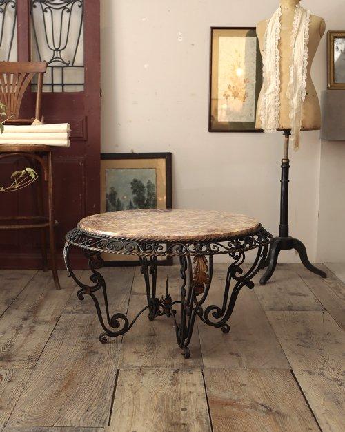 マーブルトップコーヒーテーブル  Marble Top Coffee Table
