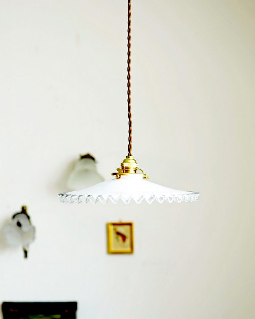 フリルガラスシェードランプ.6  Glass Shade Lamp