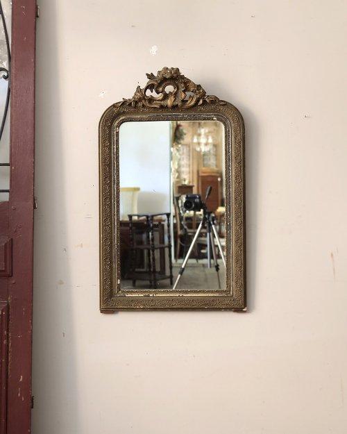 ゴールドフレーム カーヴドミラー  Curved Mirror