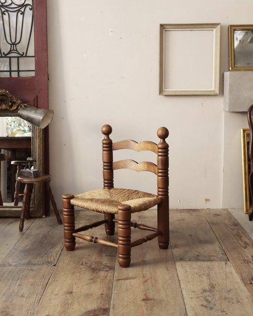 チャールズ・ドュドイ ラッシュシートチェア.a  Charles Dudouyt Rush Chair .a