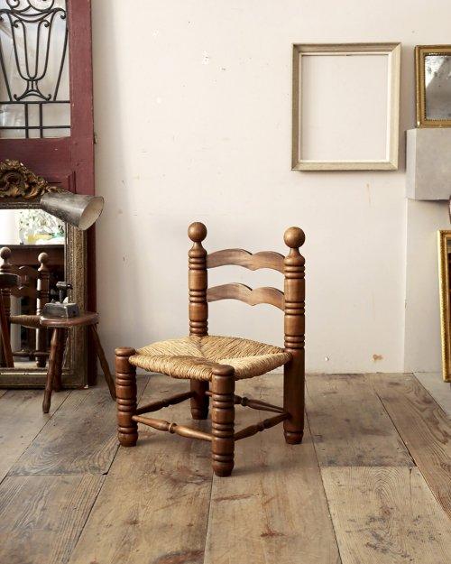 チャールズ・ドュドイ ラッシュシートチェア.b  Charles Dudouyt Rush Chair .b