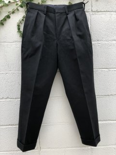 B24-P003 TAPERED SLACKS Black【BROWN by 2-tacs】