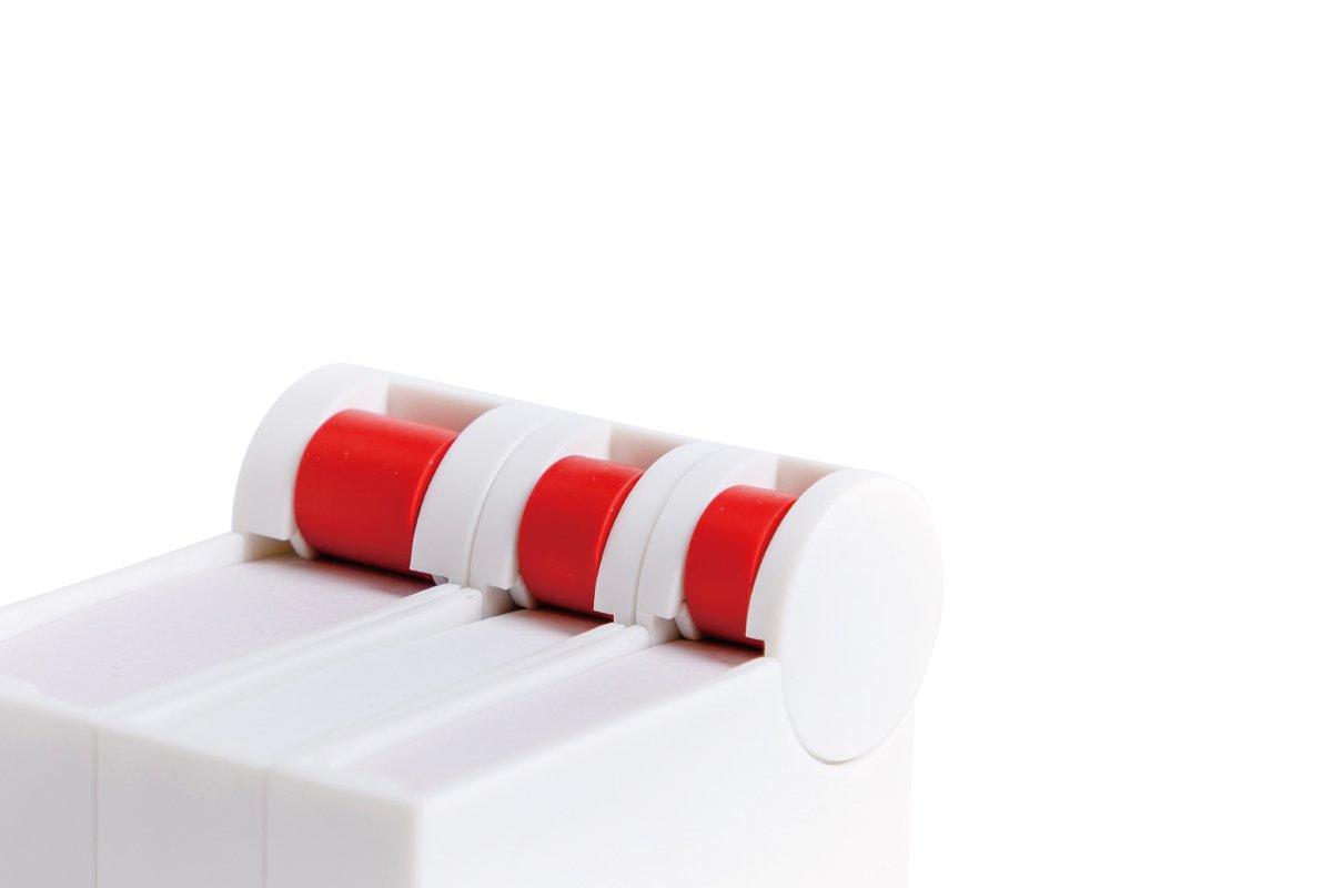 簡単にめくれる付箋ケース セット (白)