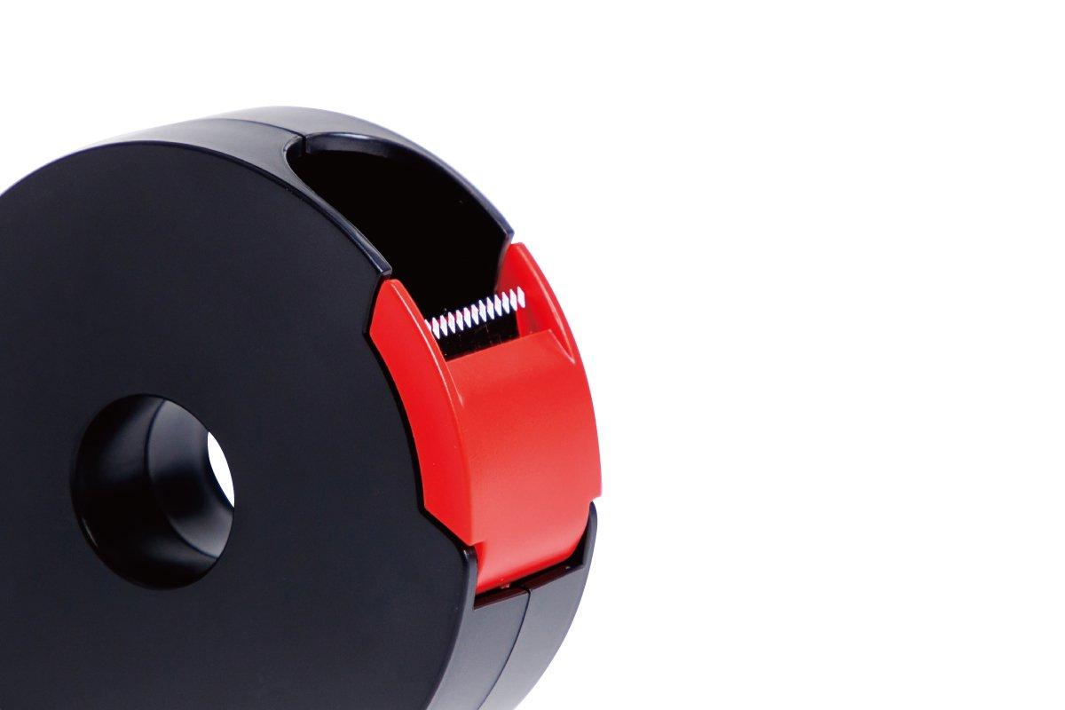 タブも作れるテープカッター 小 (黒×赤)