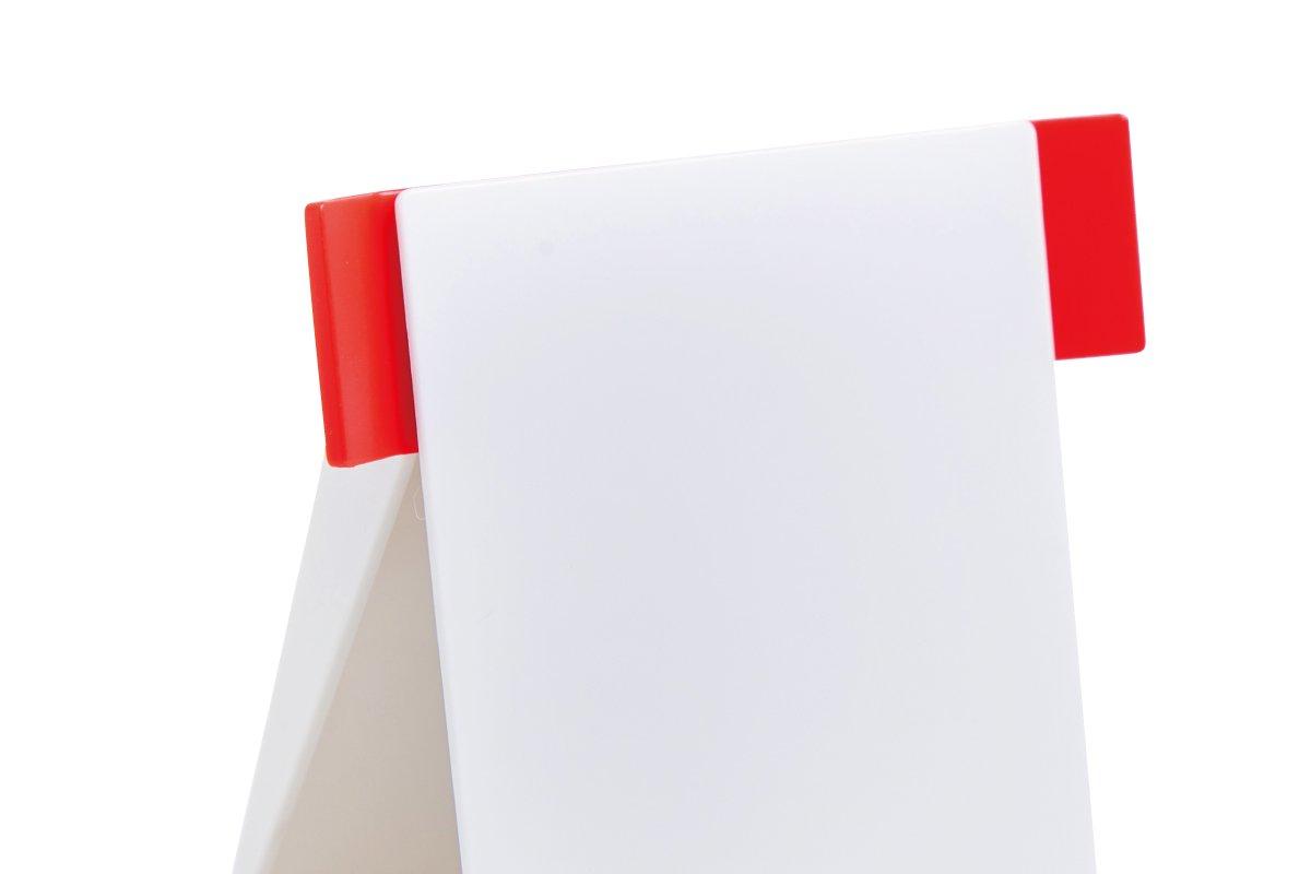 クタっとならないペーパースタンド (白×赤)