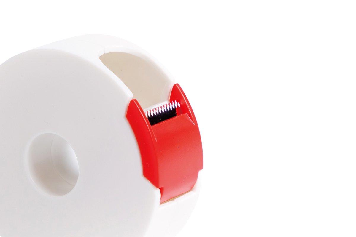 タブも作れるテープカッター 小 (白×赤)