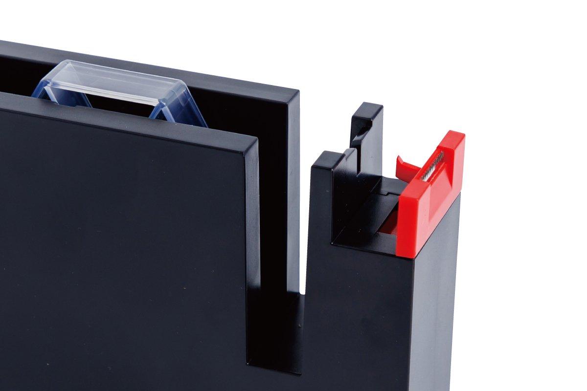 タブも作れるテープカッター 大 (黒×赤)