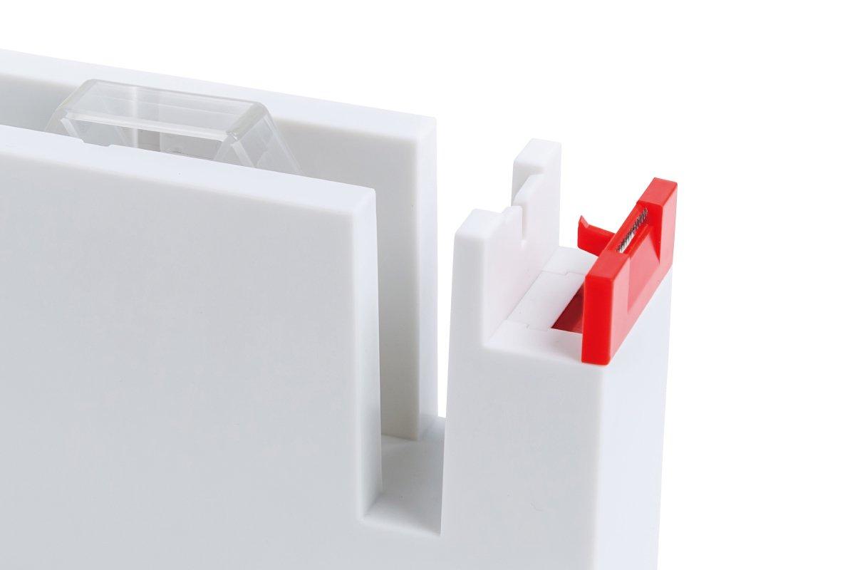 タブも作れるテープカッター 大 (白×赤)