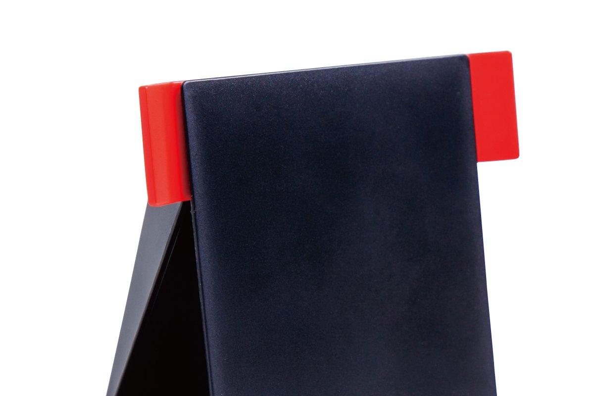 クタっとならないペーパースタンド (黒×赤)