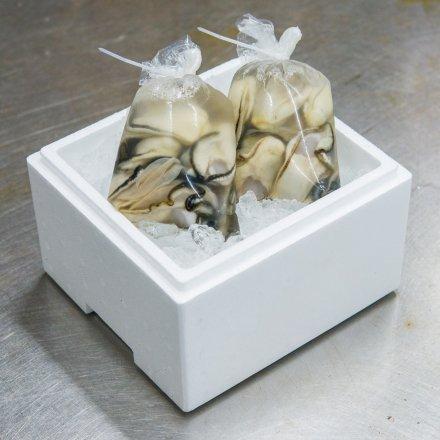 佐々木友彦さんのむきカキ2年物[大粒]600g(300g×2袋)[加熱用]【送料込】