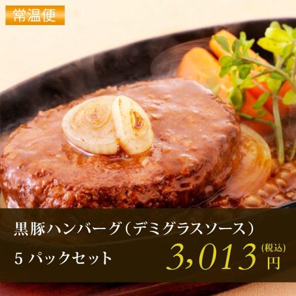 黒豚ハンバーグ(デミグラスソース)5Pセット