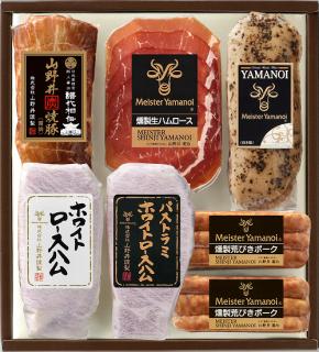 日光東照宮献上醤油使用山野井焼豚とロースハム2種セット(YT-50)