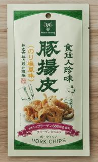 豚揚皮<ポークチップ>(のり塩風味)5パックセット