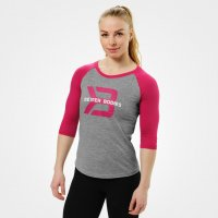 <img class='new_mark_img1' src='https://img.shop-pro.jp/img/new/icons24.gif' style='border:none;display:inline;margin:0px;padding:0px;width:auto;' />Better Bodies Womens baseball tee Greymelange/Pink