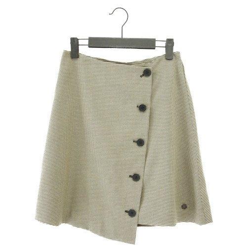 【SALE70%オフ】NUMPH ニンフ<br>チェック柄アシンメトリースカート<br>デンマーク/メール便対応可能