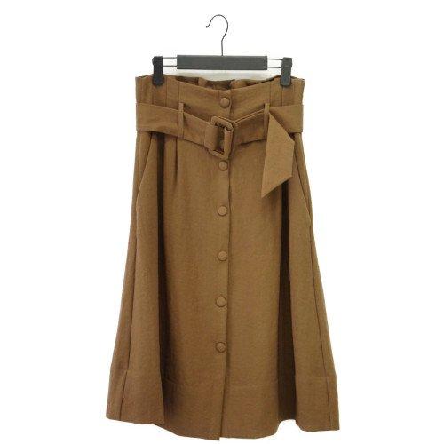 【SALE60%オフ】AND LESS アンドレス <br>ベルトデザインスカート<br> デンマーク