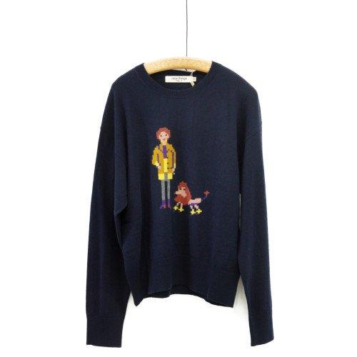 【SALE60%オフ】Nice Things ナイスシングス<br>レディアンドドッグセーター<br>スペイン/メール便対応可能