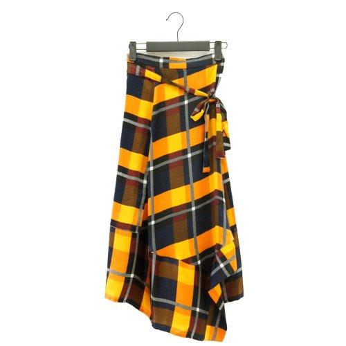 FRNCH フレンチ<br>チェック柄ラップデザインスカート<br>送料無料/メール便対応可能/ フランス