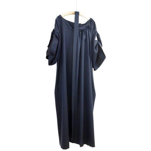 My Beautiful Landlet マイビューティフルランドレット<br>wool long dress ネイビー<br> 送料無料/日本