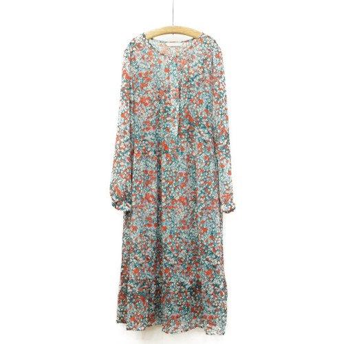【FINAL SALE60%オフ】<br>NUMPH ニンフ<br>フラワープリントワンピース インナードレス付き<br>デンマーク