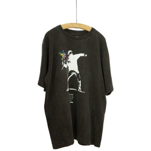 STOF ストフ×Banksy<br>ピグメントTシャツ バンクシーコラボ FLOWER<br>日本/メール便対応可能