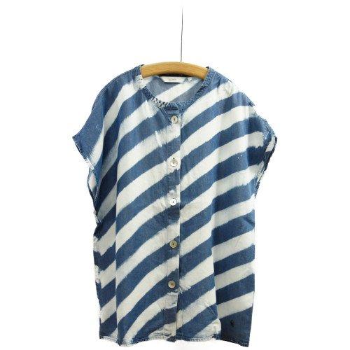 【SALE50%オフ】<br>NUMPH ニンフ<br>スラッシュボーダーシャツ<br>デンマーク/メール便対応可能