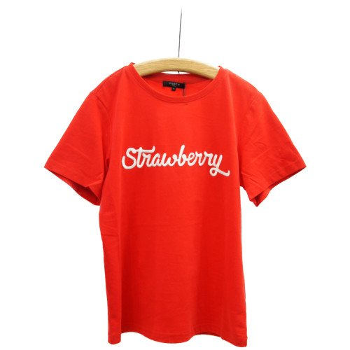 FRNCH フレンチ<br>ストロベリー刺繍Tシャツ<br>メール便対応可能/ フランス