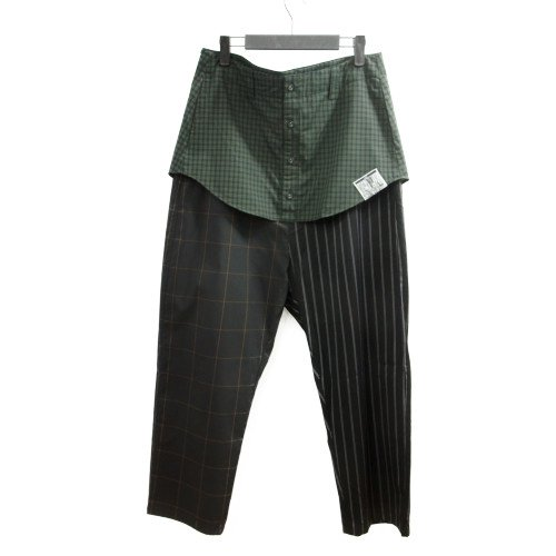VOY ヴォーイ<br>Layered check wide pant<br>送料無料/メール便対応可能/Japan<br>