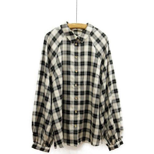 【再値下げ40%オフ★MORE SALE】NUMPH ニンフ<br>チェック柄デザインシャツ<br>デンマーク/メール便対応可能