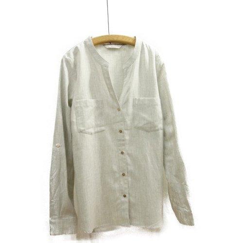 【再値下げ40%オフ★MORE SALE】NUMPH ニンフ<br>ロールアップスリーブデザインシャツ<br>デンマーク/メール便対応可能