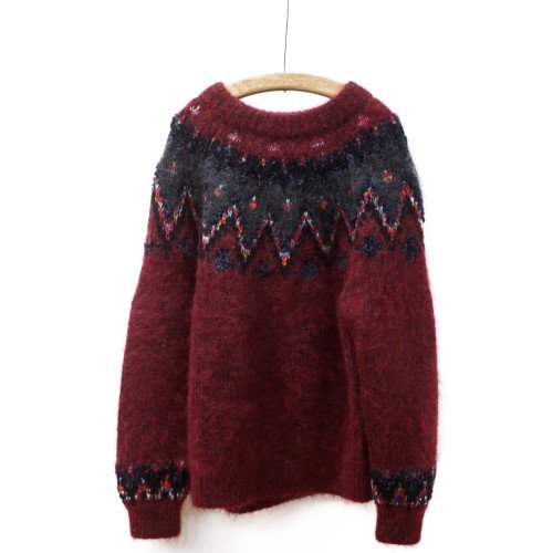 COOHEM コーヘン<br>MOHAIR NORDIC KNIT P/O<br>送料無料 /日本