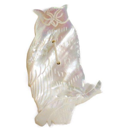 SI SI SI comfort スースースー<br>OWL フクロウブローチ/マザーオブパール/SI22<br>日本
