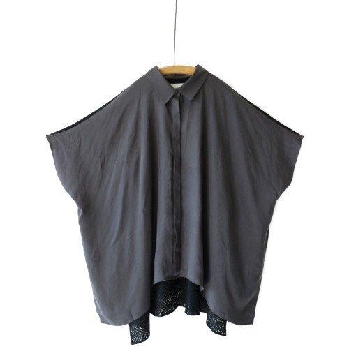 bedsidedrama ベッドサイドドラマ<br>HAGOROMO Poncho Shirt ポンチョ シャツ<br>送料無料/メール便対応可能/Japan